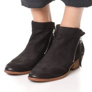 Sam Edelman Black Leather Packer Ankle Booties